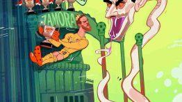 کاریکاتور بدست آوردن جایزه زامورا توسط کورتوآ