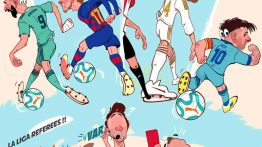 کاریکاتور تفاوت ستاره ها و داوران در لالیگا