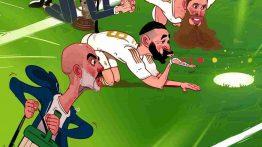 کاریکاتور علاقه رئال مادرید و زیدان به پنالتی