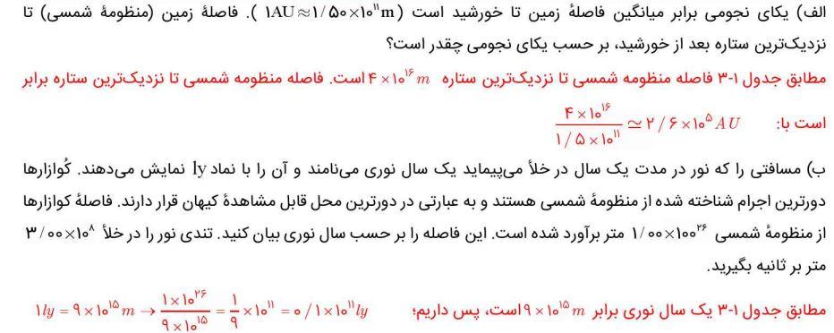 جواب تمرین صفحه 8 فیزیک دهم